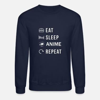 Manga Eat Sleep Anime Repeat - Unisex Crewneck Sweatshirt