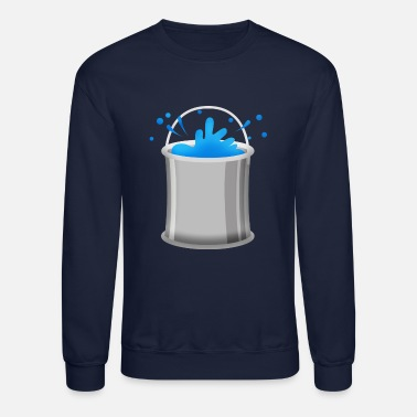Blue painting can color blue navy gift painter walls - Unisex Crewneck Sweatshirt