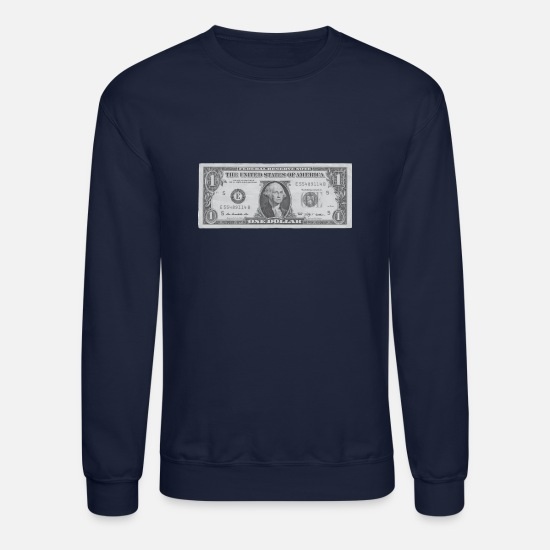 Dollar Hoodies & Sweatshirts - Dollar bill - Unisex Crewneck Sweatshirt navy