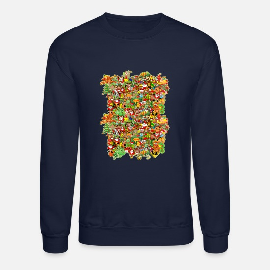 Christmas Hoodies & Sweatshirts - In Christmas Melt into the Crowd and Enjoy - Unisex Crewneck Sweatshirt navy