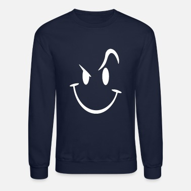Funny Evil Acid House Smiley Smily Face Mens - Unisex Crewneck Sweatshirt