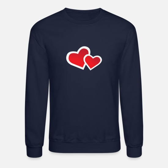 Love Hoodies & Sweatshirts - Love Hearts - Unisex Crewneck Sweatshirt navy