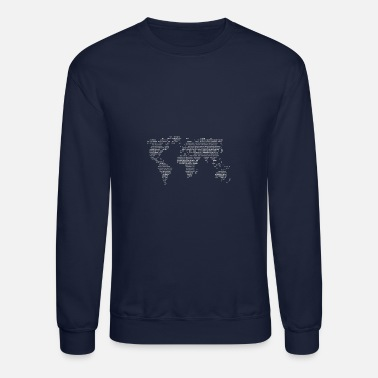 World Code World in binary - Unisex Crewneck Sweatshirt