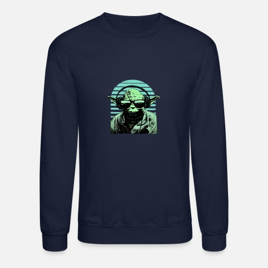 Chewbacca Hoodies & Sweatshirts - Yoda Headphones - Unisex Crewneck Sweatshirt navy