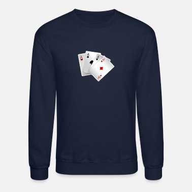 Playing playing cards Suit heart Diamond Club Speed - Crewneck Sweatshirt