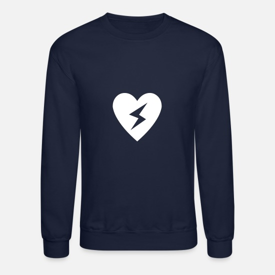 Lightning Hoodies & Sweatshirts - Heart Lightning - Unisex Crewneck Sweatshirt navy