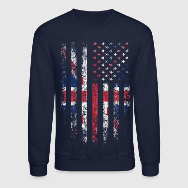 UK US Flag Grunge - Crewneck Sweatshirt