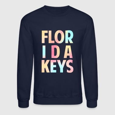 Florida Keys Colorful Souvenir Vacation Travel Design - Crewneck Sweatshirt
