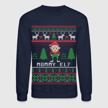 Mommy Elf Ugly Christmas - Crewneck Sweatshirt
