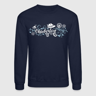 Oktoberfest Oktoberfest decoration with traditional elements - Crewneck Sweatshirt