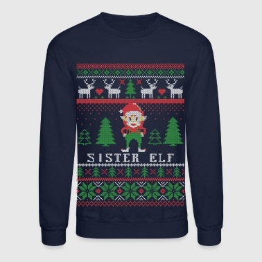 Sister Elf Ugly Christmas - Crewneck Sweatshirt