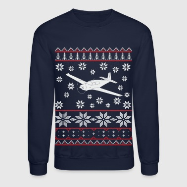 ugly christmas mooney pilot plane flying gift - Crewneck Sweatshirt