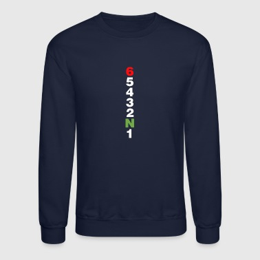 Drop a gear and disappear shift motorcycle gears - Crewneck Sweatshirt