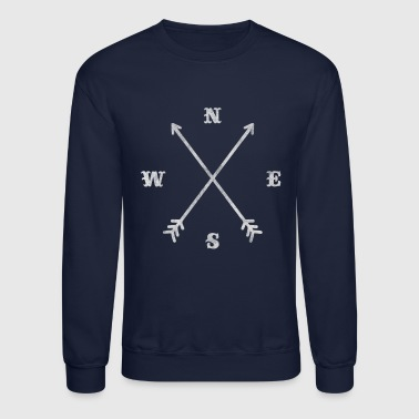 Hipster Hipster compass / crossed arrows / retro look - Crewneck Sweatshirt