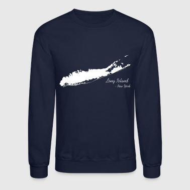 Long Island New York Shirt - White - Crewneck Sweatshirt