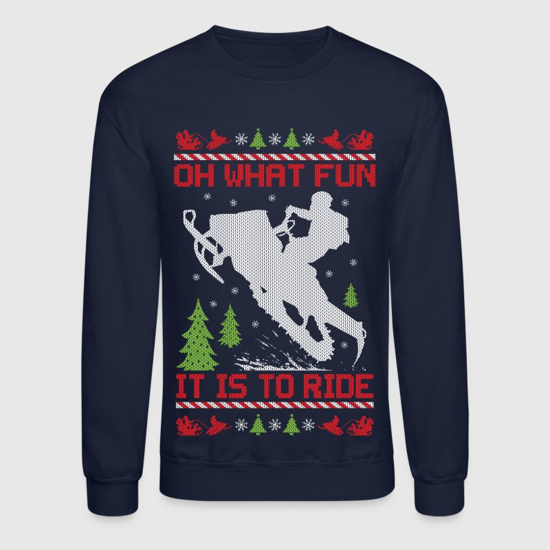 Snowmobile Christmas Fun - Crewneck Sweatshirt