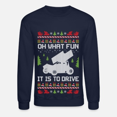 Sprinting Sprint Car Christmas - Crewneck Sweatshirt