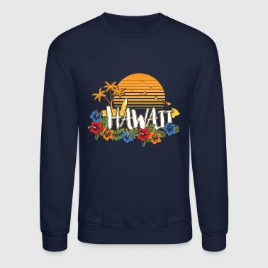 Hawaii Hawaiishirt men & woman, vintage style, islands - Crewneck Sweatshirt
