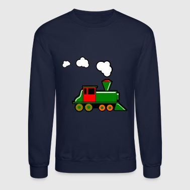 eisenbahn zug tram train railroad railway locomoti - Crewneck Sweatshirt