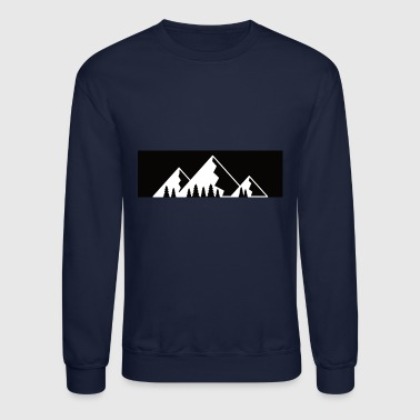 Carinthia Mountains with firs - Crewneck Sweatshirt