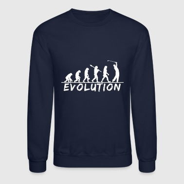 Evolution Golf, golfing, putter, funny, golf club - Crewneck Sweatshirt