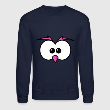 Eyes with beak and eyebrows pink - Crewneck Sweatshirt