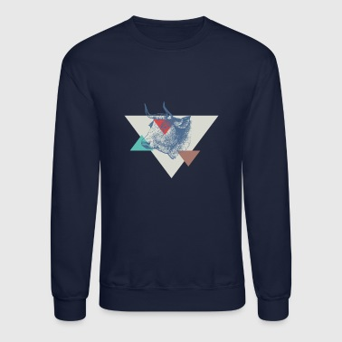 COW triangle design - Crewneck Sweatshirt