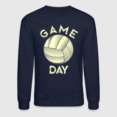 gameday volleyball white - Crewneck Sweatshirt