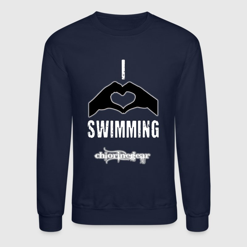 I heart swimming - Crewneck Sweatshirt