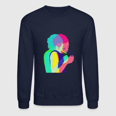pop art female - Crewneck Sweatshirt