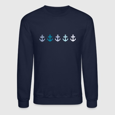 Nautical Blue Anchor Design - Crewneck Sweatshirt