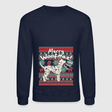 Dalmatian Merry Woofmas Ugly Christmas Sweater - Crewneck Sweatshirt
