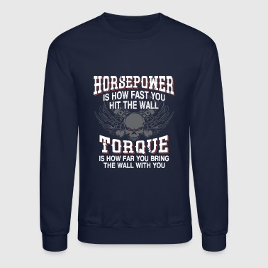 Horpower Vs. Torque Definition - Crewneck Sweatshirt
