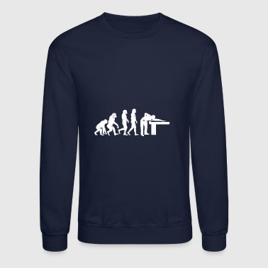 Funny Billiards Cue Sports Evolution - Crewneck Sweatshirt