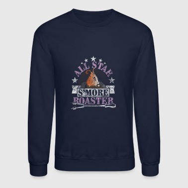 All-Star S'more Roaster Campfire Camping Distresse - Crewneck Sweatshirt