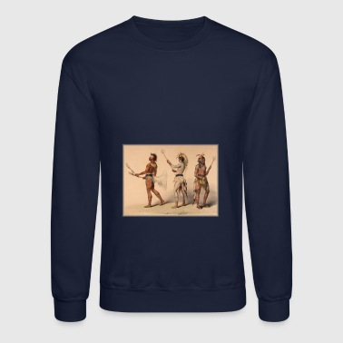 Lacrosse Native American Indian Iroquois Canadian - Crewneck Sweatshirt