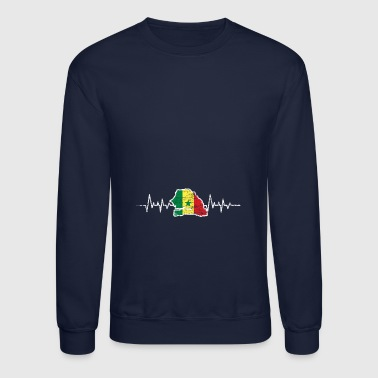 senegal heartlines flag - Crewneck Sweatshirt
