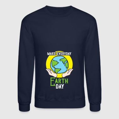 make everyday earth day gift climate protection - Crewneck Sweatshirt