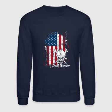 Iron Worker Flag Shirt - Crewneck Sweatshirt