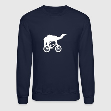 Bike Life Camel Riding a Bike - Crewneck Sweatshirt