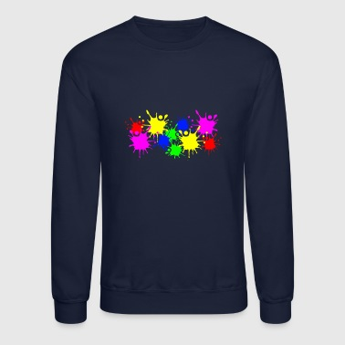 Splashes of color splashes of color color color du - Crewneck Sweatshirt
