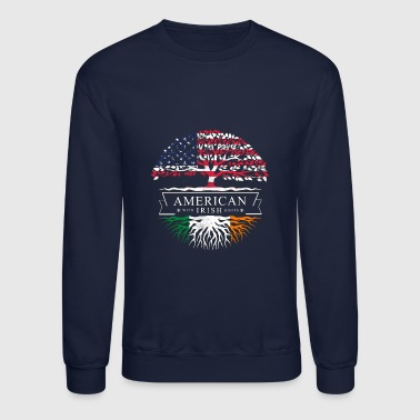 American with Irish Roots Tee - Crewneck Sweatshirt