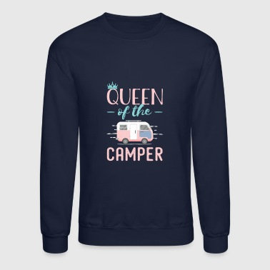 Funny Queen Of The Camper - Crewneck Sweatshirt