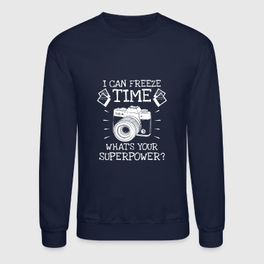 I can freeze time what's your superpower? - Crewneck Sweatshirt