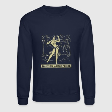 Tahitian Atmosphere Matchbook cover - Crewneck Sweatshirt