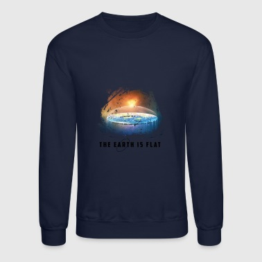 the earth is flat - Crewneck Sweatshirt