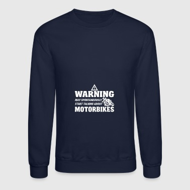 Warning May Spontaneously Superbike - Crewneck Sweatshirt