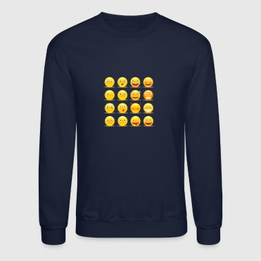 set of emoticons - Crewneck Sweatshirt