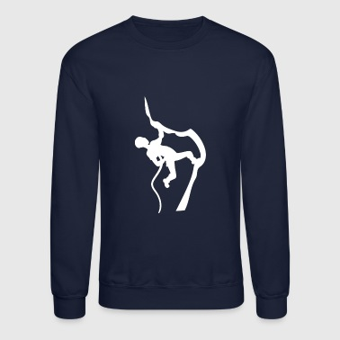 Mountain Climbing Rock Climbing Climber Mountains - Crewneck Sweatshirt