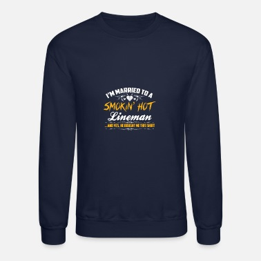 Married Married lineman - Crewneck Sweatshirt